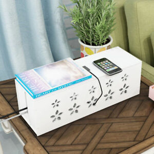 Flower-Cable-Storage-Box-Wire-Management-Socket-Safety-Tidy-Organizer-Solution