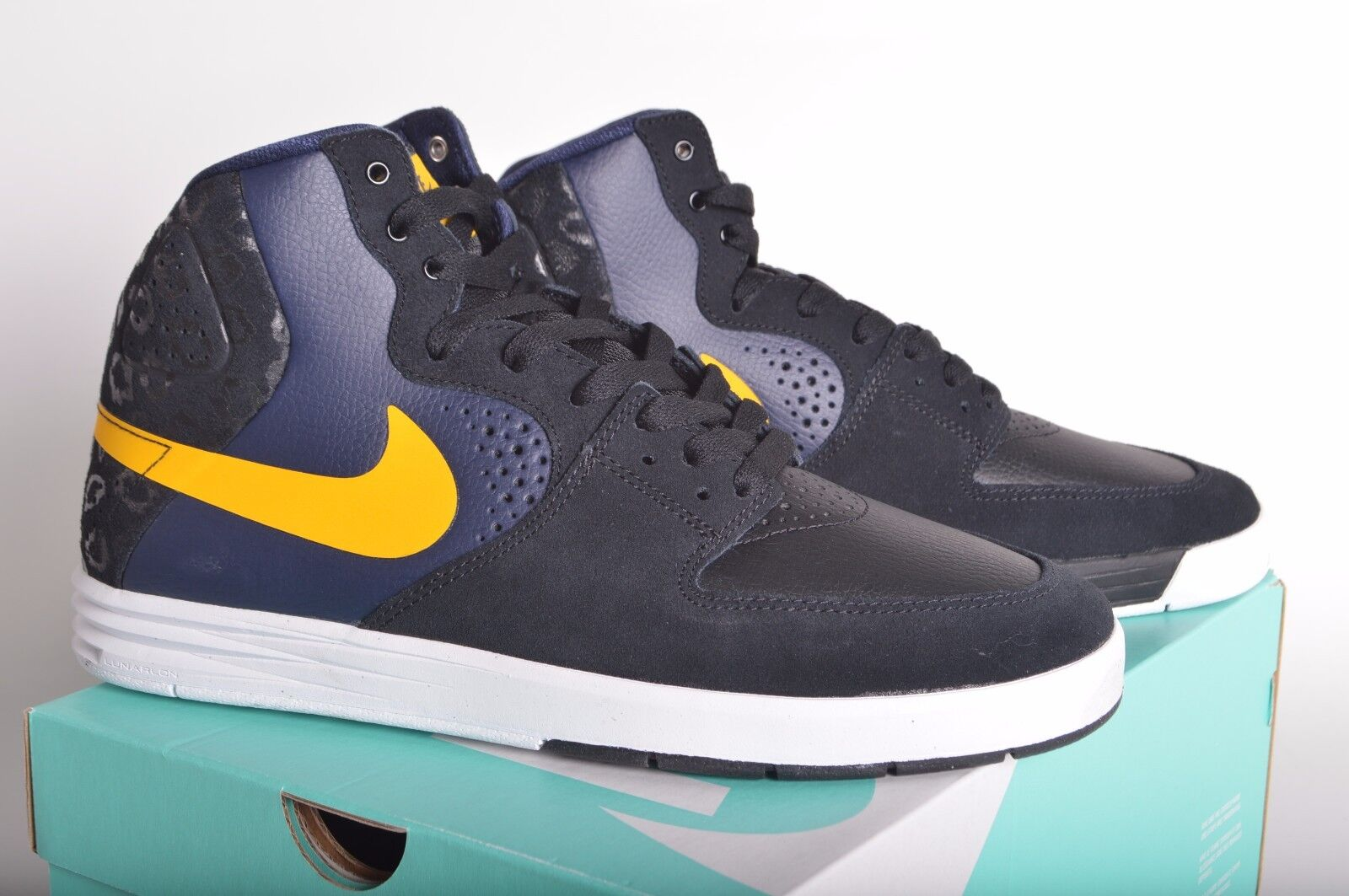 Brand discount NIB MEN'S NIKE PAUL RODRIGUEZ 7 HIGH 10 Blac /Varsity Maize-Obsidian 616355 074
