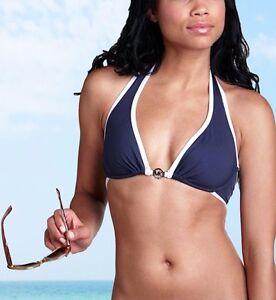 58d11f2d800 NWT Michael Kors Cayman Solids MK Ring Underwire Halter Bikini ...