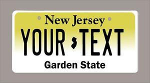 "NEW JERSEY custom novelty bicycle mini license plate- name or text 3"" x 6"""