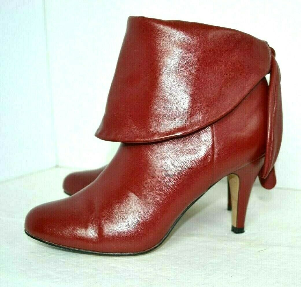 NEW STEVE MADDEN rosso GENUINE LEATHER stivali Dimensione 8 M 3.5  HIGH HEELS