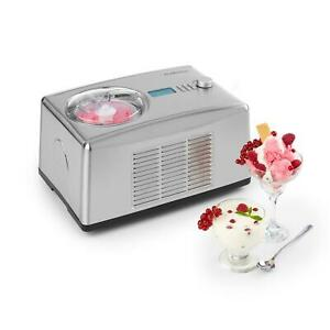 Gelatiera-Macchina-Gelato-Yogurtiera-Autorefrigerante-Elettrica-Yogurt-1-5L-Inox