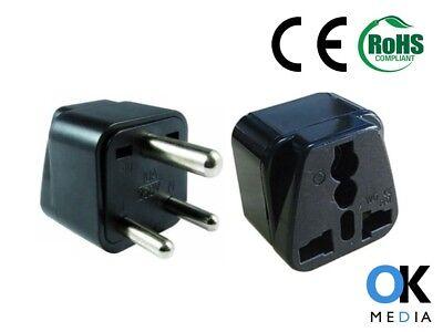 3 X Uk To India Pakistan Srilanka Nepal Travel Adaptor Power Plug Adapter Type D