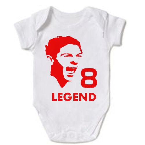 STEVEN GERRARD LIVERPOOL FC LEGEND LFC BABY GROW VEST