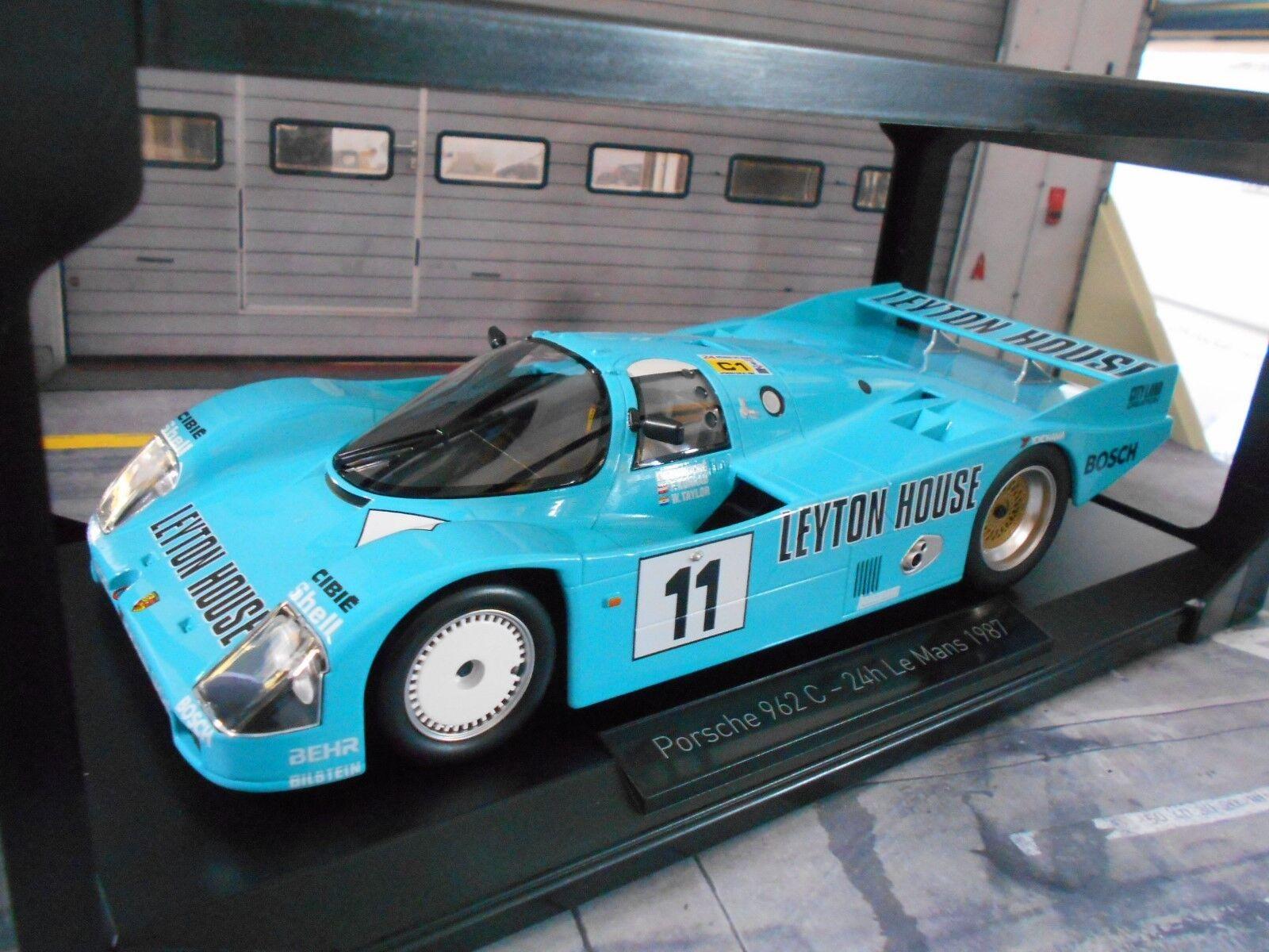 Porsche 962 C 956 II Le Mans 1987  11 Leyton House Konrad FOUCHE Lim NOREV 1 18