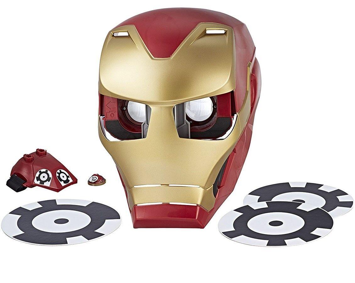 Marvel avengers  infinity kriegsheld vision, iron man und erfahrung - maske