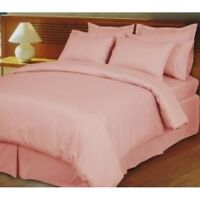 Hotel Quality High Deep Pocket 4 pc Sheet Set Pink Striped 1000 Thread Count