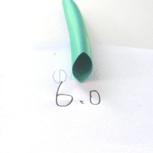 """Heat Shrink Tubing Tube Diameter 6mm 15//64/"""" x 2m//6FT @Green"""