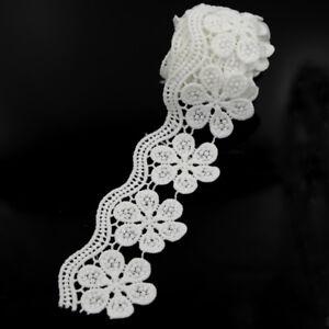 2-Yds-Polyester-Flower-Sewing-Lace-Trim-Bridal-Dress-Belt-Band-Ribbon-DIY-Decor