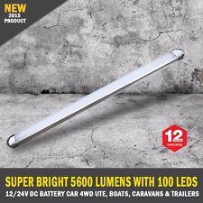 NEW 50cm 12/24V DC Diffused 100 LED Strip Light Bar Camping Caravan Boat Trailer