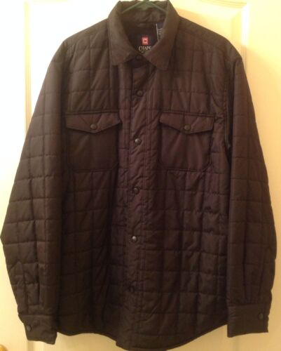 Handsome Black Lined L Nwot Coat Taglia Quilted Chaps AUcBq6