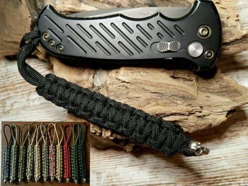 Toller Schlüsselanhänger Lanyard Ziehhilfe mit Skull Messer aus Paracord