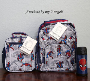Pottery Barn Kids Allover Spiderman Small Backpack Lunch