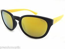 Police 'HOT 2' Sunglasses Matte Black over Yellow / Gold MIRROR S1937 7VNG