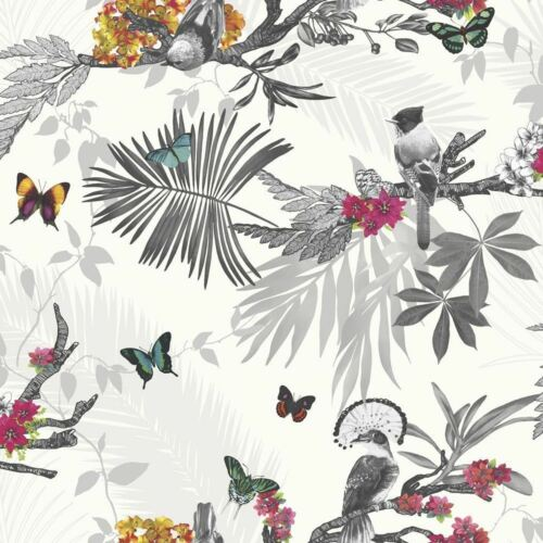 BEAUTIFUL MYSTICAL FOREST WALLPAPER BY ARTHOUSE IN WHITE 664802 OR TEAL 664801