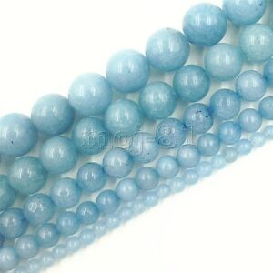4mm Brazilian Aquamarine Gemstone Round Loose Bead 15/'/' A++