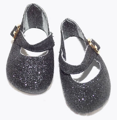 Gold Glitter Mary Jane Shoes Fit American Girl Wellie Wishers Dolls H4H