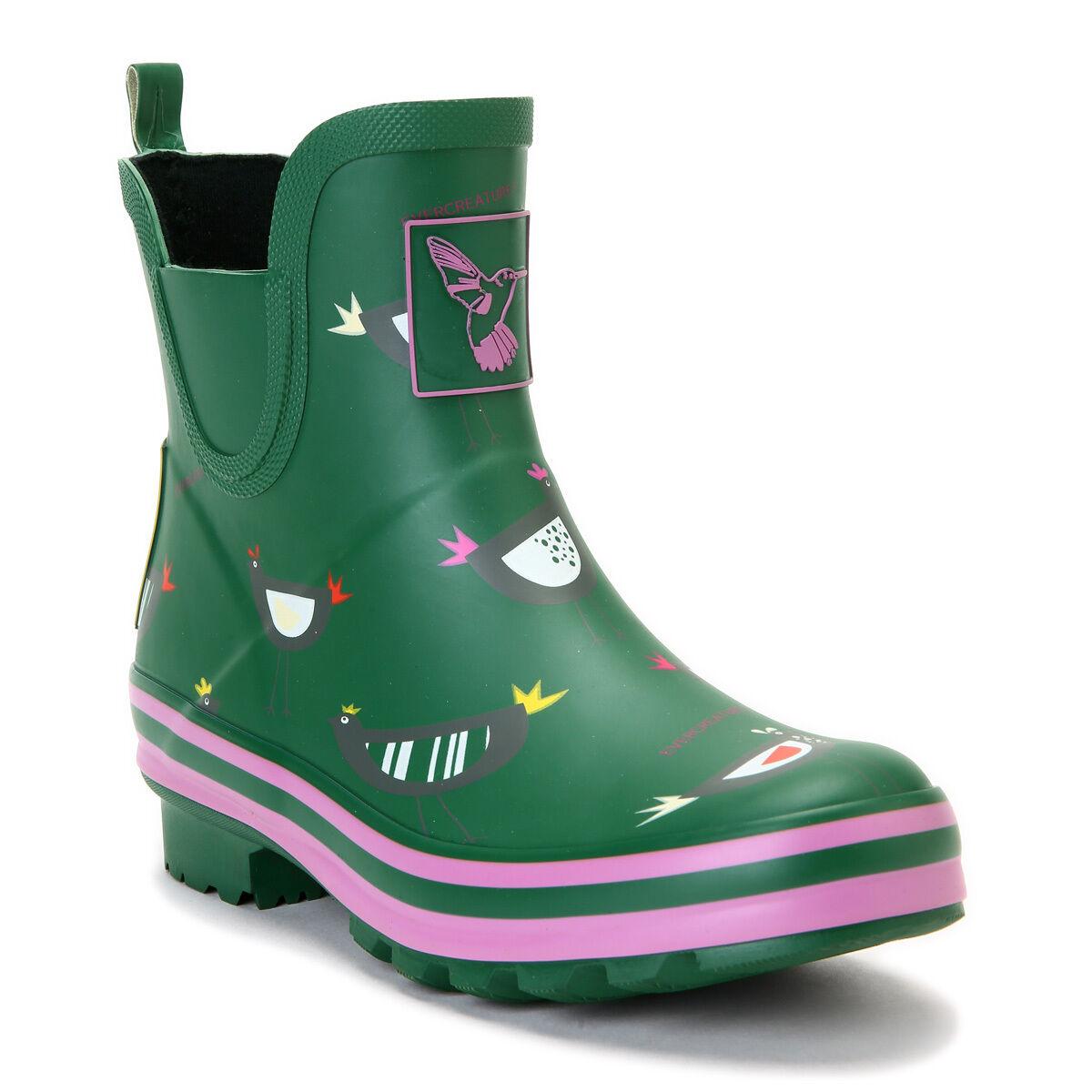 Women's Ankle-high Waterproof Rain Boot Cute animal print Rain Boots Wellies