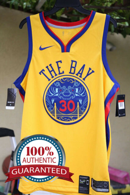 """a1eddfb9005b Nike Warriors Authentic Jersey """"Chinese New Year"""" Limited Stephen Curry  30"""