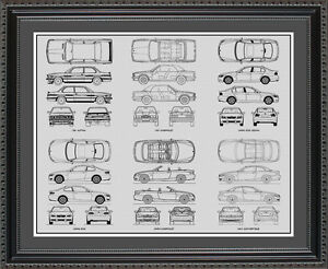 Blueprint art bmw m series auto collection car artwork gift print image is loading blueprint art bmw m series auto collection car malvernweather Choice Image