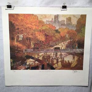 Bart-Forbes-NYC-New-York-City-Marathon-1992-S-N-Lithograph-Print-25-x-28-034