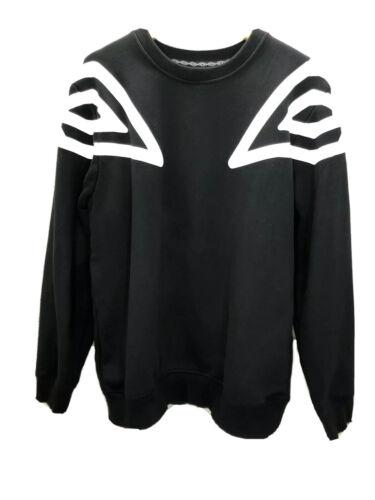 Umbro Big Logo Sweatshirt Jumper Black White Size
