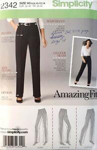 Simplicity-2342-Amazing-Fit-Pants-slim-average-curvy-size-6-14-sewing-pattern