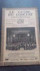 REVUE LE GUIDE DU CONCERT ET DES THEATRES LYRIQUES 1930 N°2 C.DE MONTE-CARLO ABE