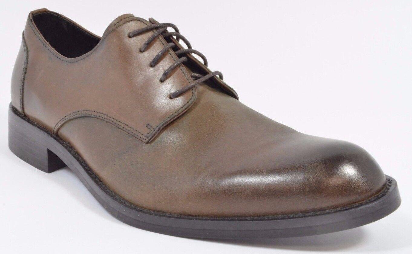 Donald J Pliner Borak Hombre Becerro Cuero con Cordones Zapatos Vestido Marrón