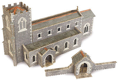 Metcalfe PN926 - Stone Parish Church Die Cut Card Kit N Gauge - Tracked 48 Post