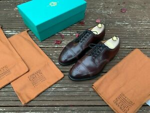 Edward-Green-Cardiff-Men-039-s-Shoes-7-5-F-202-last-Horween-Burgundy-Cordovan-new