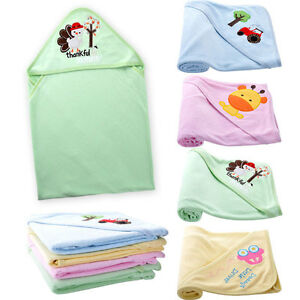 Cute Infants Baby Hooded Towel Bathrobe Toddler Boy Girls Bath Washcloths US STO