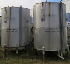 1800 Gallon 304 Stainless Steel Vertical Holding Tank With Cone Bottom