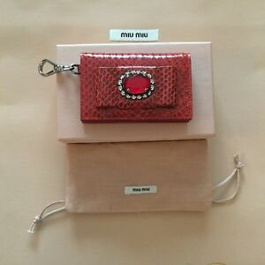 05c324ff2a4b Image is loading NEW-FROM-MIU-MIU-BOUTIQUE-GENUINE-SNAKESKIN-JEWELED-