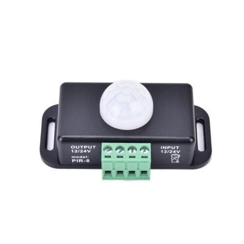 Automatischer DC 12V 24V 8A Infrarot PIR Bewegungs Sensor Schalter LED Licht@ZP