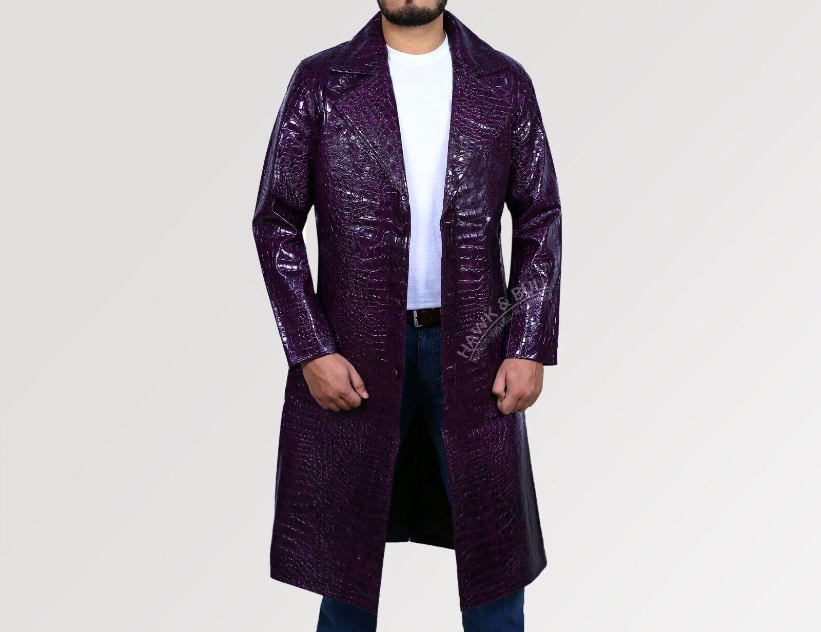 JaROT Leto Joker Suicide Squad lila Halloween Costume trench Coat Faux Leder