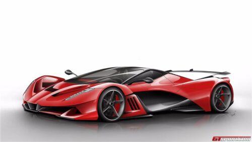"Ferrari Luxury Super Race Car Art Silk Wall Poster 24/""x13/"" inch 137"