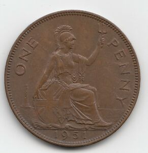 VERY RARE 1951 GEORGE VI PENNY 1d - Choose your coin