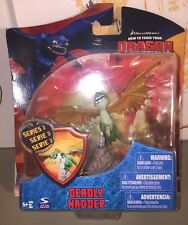 """How to Train Your Dragon 4"""" Green Deadly Nadder Series 3 nib 2010 Spin Master"""