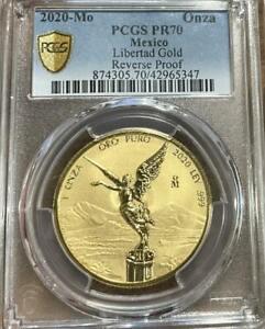 2020 Mo Mexico 1 Oz Gold Reverse Proof Libertad PCGS PR 70 Mintage of 250