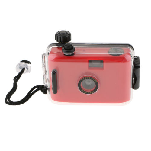 Underwater Waterproof Lomo Camera Mini Cute 35mm Film with Housing Case Red
