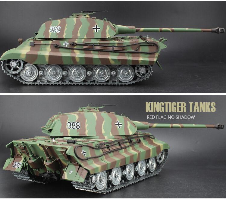 Heng Long King Tiger Radio Remote Control Rc Tank  Porsche Turret Platinum  UK