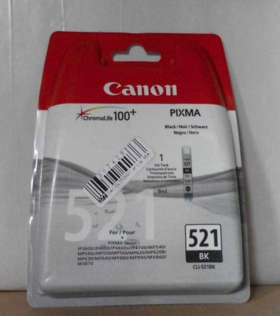 Original Canon CLI-521BK Tinte black für iP3600 iP4600 MPS540 MPS550 2933B008