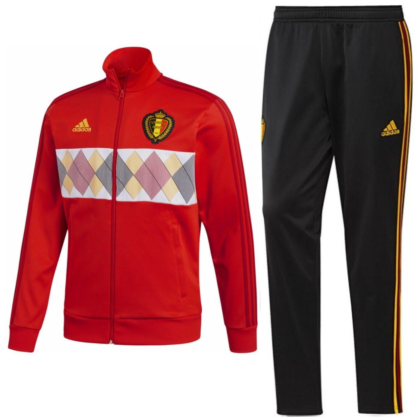 Tg M uomo  Tuta da allenamentorappresentanza nazionale Belgio 201819 Adidas