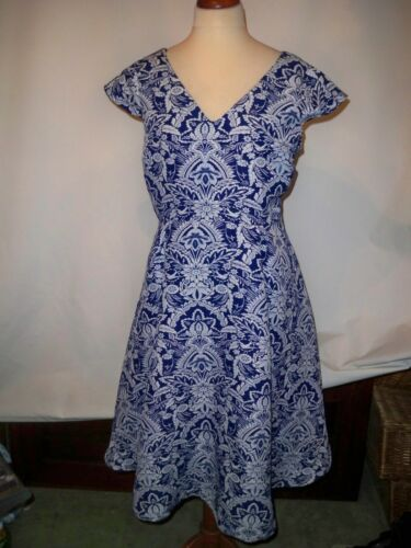 Per Dress Navy Uk 18 Look White s And Una 1960 00q8rPH