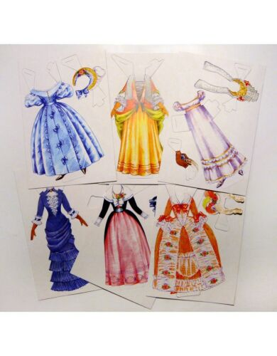 Paper doll Young lady Historic European costume.