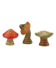 Dept 56 Pumpkinseeds Mini Mushrooms Fairy Garden Decor Janell Berryman Set 3