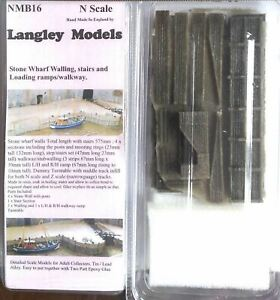 Wharf-Walls-walkway-turntable-NMB16-UNPAINTED-N-Gauge-Scale-Langley-Models-Kit