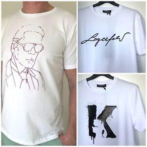 Details zu KARL LAGERFELD Herren T Shirt mit Logo