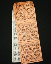 BINGO PAPER Card 3 on 2 Orange Sld and White 100 packs 200 sheets  FREE PRI SHIP